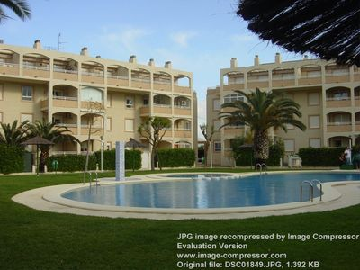 Photo for BA DENIA 64 1st line, pool view, AC, PK