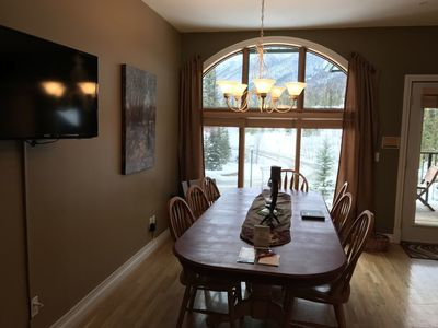 Dining Area with Incredible Views of the Ski Resort