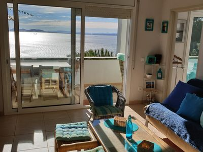 Photo for Apartment F2 exceptional sea view 5mn beach canyelles