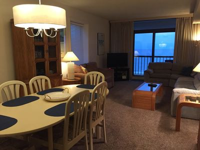 Living/Dining Area with Seating for 6, View of Beach