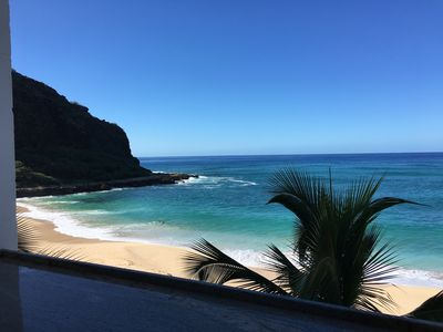 Photo for Cozy Beach front condo in Makaha