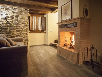 Photo for Casa La Ciucola, rustic stone for two families in the countryside