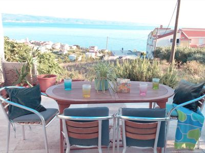 Photo for Large 95 m2 apartment with the sea view, balcony and garden