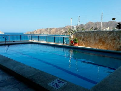 Photo for Two bedroom apartment with pool and wonderful bay view