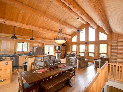 Photo for Great Pricing! Private Mountain Retreat, 1+ Acres, Fantastic Views, Hot Tub!