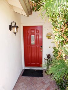 Front door has keyless entry for easy access.