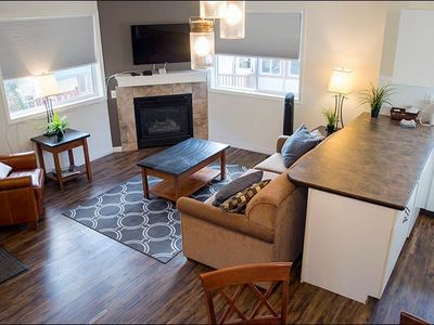 Photo for Deluxe Suite in Canmore | Gas Fireplace + Free Wi-Fi + Outdoor Hot Tub