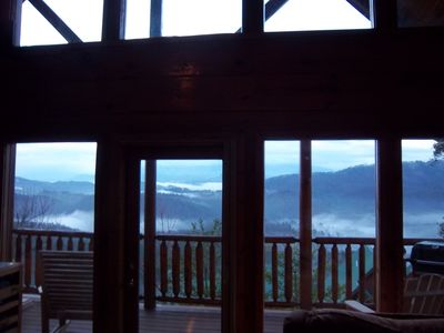 Beautiful Morning Sunrise Looking out from Living Room