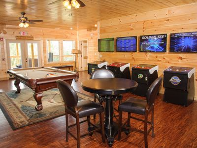 Photo for Elevator, Arcades, Home Theater, Hot Tubs, 2 Game Rooms, Great for Reunions & Corporate Retreats