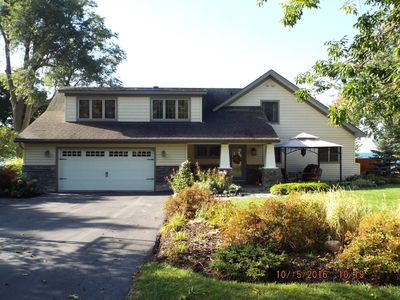 Photo for Sleeps 10 - Fully renonavated Vacation Home on Lake Ontario - beach property!