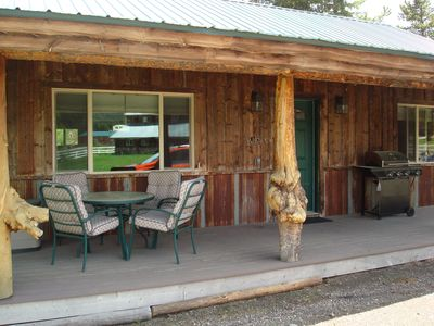 Photo for 8 miles from Yellowstone! Newly built, look inside! Gas grill & next to creek.