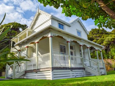 Photo for 120 yr old, 5 bedroom Lodge Oozing Character with Beach Back and Front