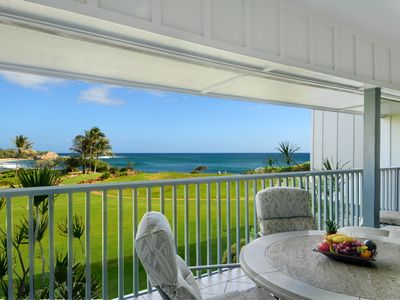 Photo for Poipu Sands #523 - OCEAN FRONT VIEWS with HEATED pool & AC!