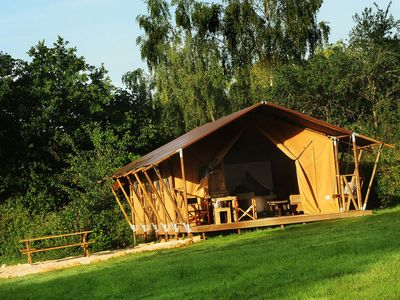 Photo for Luxury safari tent in Burgundy, ultimate rural experience!