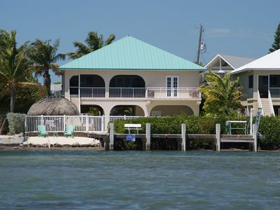 Photo for Oceanfront Rental With Heated Pool, Dock & Tiki Hut