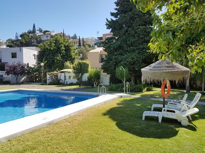 Photo for Elegant chalet house 6 minutes from the beach with pool