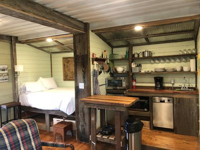Photo for Brand New! Charming farmhouse made from shipping containers with reclaimed wood