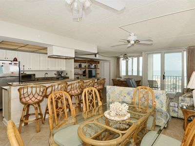 Photo for FREE DAILY ACTIVITIES! Fantastic renovated low floor 3 bedroom, 2 bath unit with amazing ocean views!