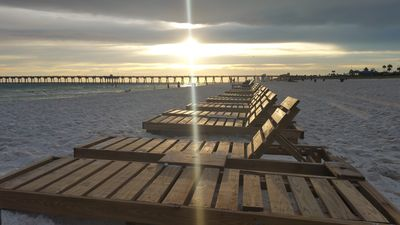 Photo for STEPS FROM THE COUNTY PIER! Handicap accessible unit with gorgeous views!