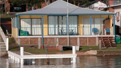Photo for Absolute water front with private jetty!! Sunshine Cottage on Lake Macquarie