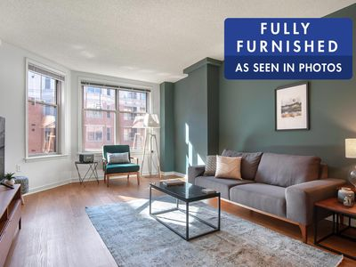 Photo for Sharp Foggy Bottom 1BR w/ gym, rooftop + doorman by Blueground
