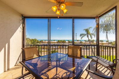 screened in lanai with sliding glass windows