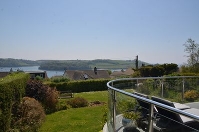 The views from the rear garden over St Mawes