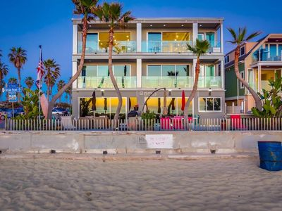 Beach front & first property south of Belmont Park!   Location, location!!