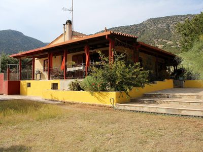 Photo for Detached house with large garden, close to the beach, sea views, WIFI | Argolis,