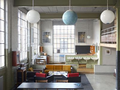 Photo for 116 m² large loft in the industrial style, in the middle of the Leipzig Cotton Mill