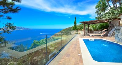 Photo for Beautiful VILLA BACCO with stunning sea view, pool, garden and terrace