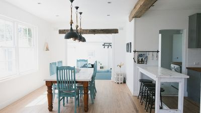 Open plan dining and kitchen area Cottage #1