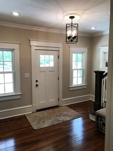 New windows throughout the home and lots of recessed lighting for a warm feel