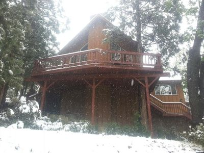 Photo for Available stars & wrap around Balconies Leading to Rock Views...on Natl Forest