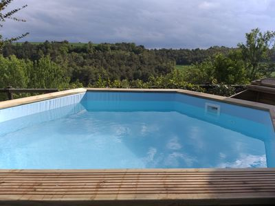 Photo for Can Pinyol cottage for 10/12 with pool