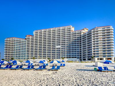 Photo for Beachfront condo w/ stunning views, shared hot tub, fitness room, & indoor pool!