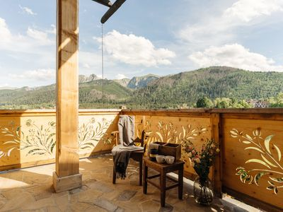 Photo for A climatic and spacious apartment with a garden and an amazing view.