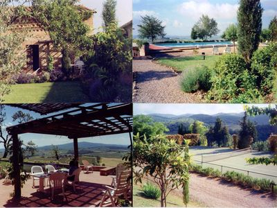 Photo for 12km North of Siena with a stunning view pool & tenniscourt  3 bedrooms ensuite