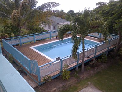 View of Pool From Balcony