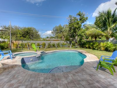 Photo for DANIA BEACH RESORT HOME.. 5 BEDROOMS  4 BATHS ..pool home
