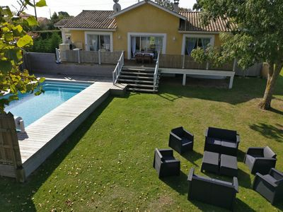 Photo for Villa, heated pool, ocean, 3ch, 2sdb, large garden