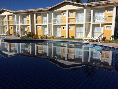 Photo for Ground floor apartment in gated community on Taperapuã Beach