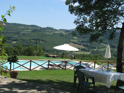 Photo for Well maintained apartment in a very nice old country estate in the countryside, Todi