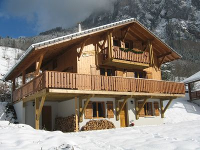 Photo for Luxury 13 pers. chalet with sauna, wifi and hammam. Portes du Soleil, France