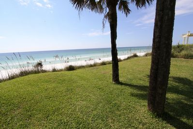 Gorgeous Grassy Front Yard Overlooking Gulf