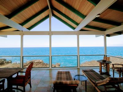 Photo for Direct Oceanfront,Custom Home, Polynesian Design, See WHALES-DOLPHINS,Sunbathing