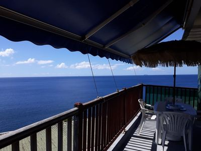 "Photo for ""THE BLUE SUITE"" sea view bungalow with pool!"
