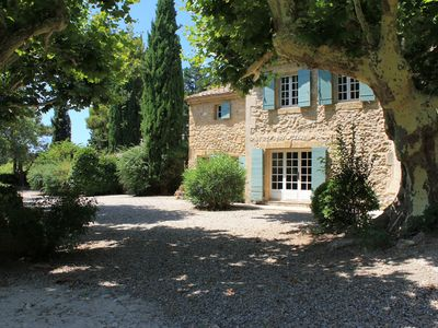 Photo for Alpilles, old farmhouse, huge garden, secured private pool, 6 bedrooms