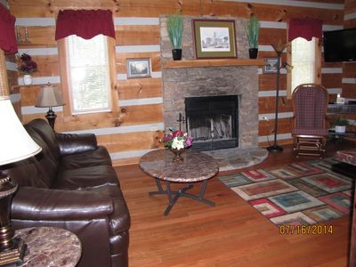 Photo for CUTE 1BR-1.5 BATH! -- CLOSE TO  THE PKWY BUT IN THE MTNS! HOT TUB! FIREPLACE!