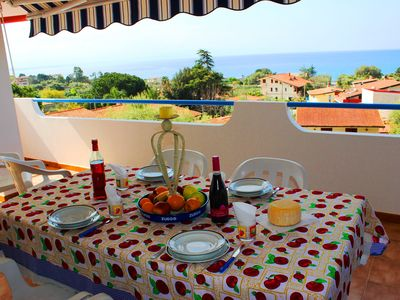 Photo for Villa Clara with Sea View and Aeolian Islands